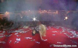 slutty stripper gives a guy a lap dance