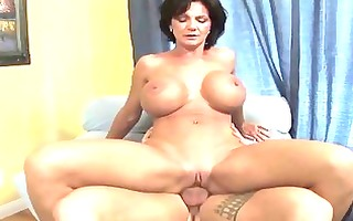 busty milf shags with her juvenile sexually