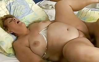 fat granny gets drilled hard by young stud