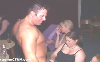 wild girls engulf cock at cfnm party