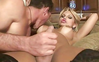 shemale in stockings acquires drilled