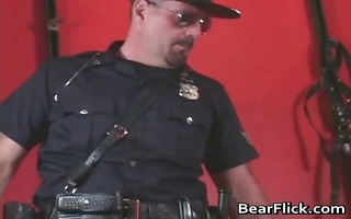 homosexual bear policeman sends a painful part3