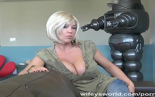 wifeys world - busty neighbor sucks ramrod and
