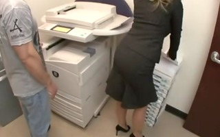 aline bigbutt in copy room anal cougar