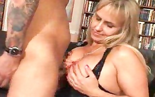 big titted milf is cheerful her boyfriend came