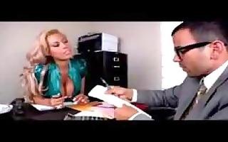 hot secretary bridgette in her stockings sm65