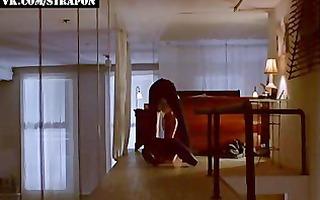 femdom strap-on scene in mainstream video