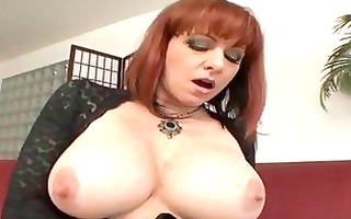 breasty aged redhead gets hard boner up her ass