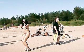 pleasing teens exposed their bodies at a nudist