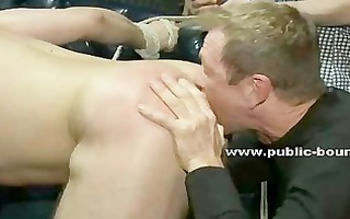 gorgeous gay man is bound up tortured humiliated