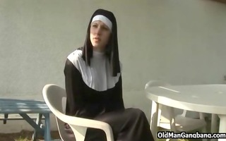 sinful nun immoral and fucked