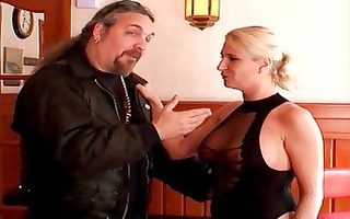 large titted blond wench shags with well hung guy