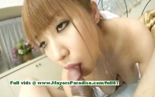 myuu hasegawa sexy oriental babe rubs her large