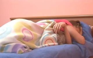 sleepy teenie rubbing her sleepy cookie