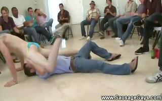 gay stripper getting a rimjob