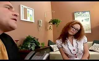 nerdy redhead secretary audrey hollander keeps