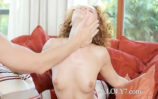 redhead babe screwed on the red bigbed