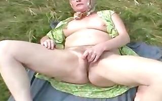 next door granny rubbing her old hirsute old in