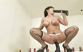 large boobed claire dames is sliding her