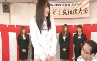 cute oriental legal age teenager shows cum-hole