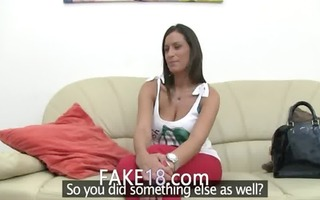 shocking babe with biggest pointer sisters on sofa