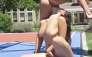 playing a little one-on-one