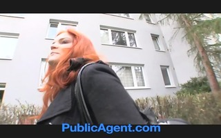 publicagent married redhead does anal in the
